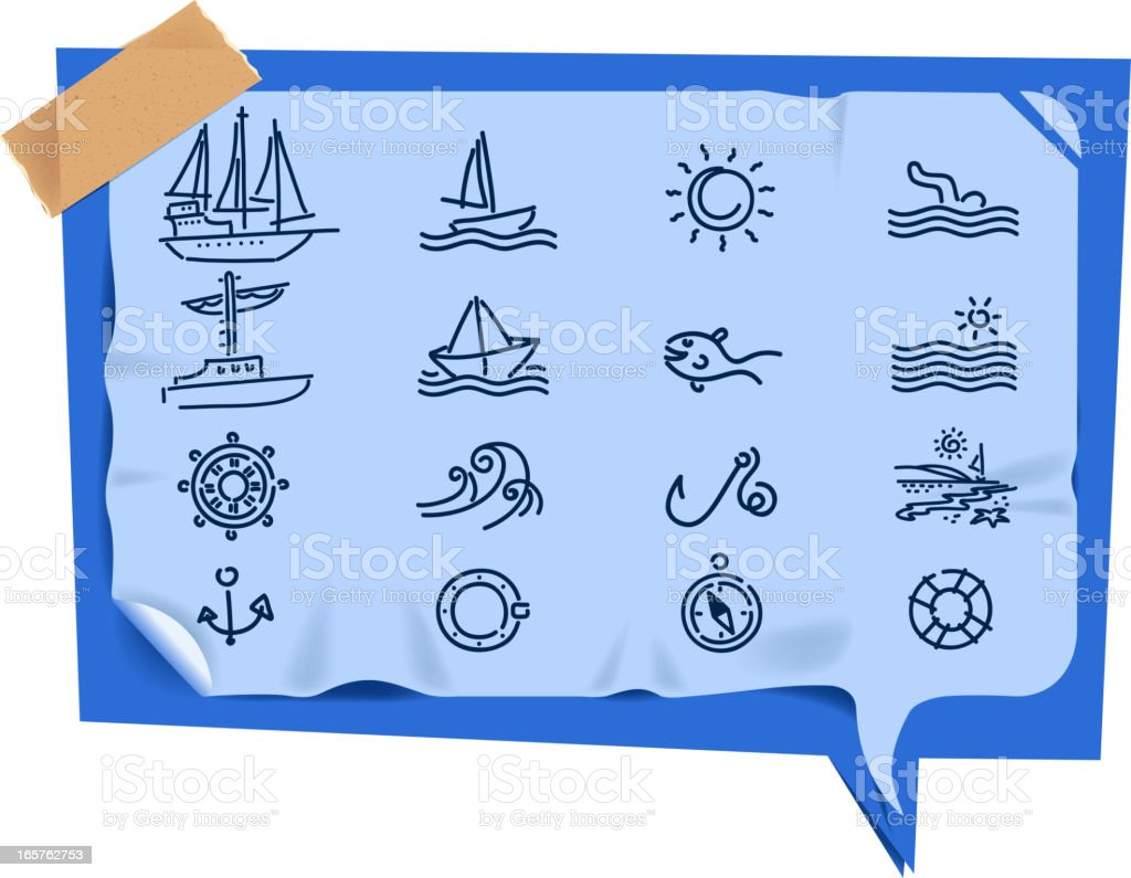 holiday set on speech bubble royalty-free stock vector art