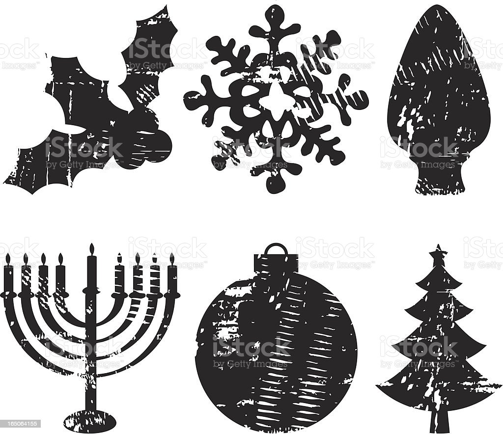 Holiday Shape Grunge royalty-free stock vector art