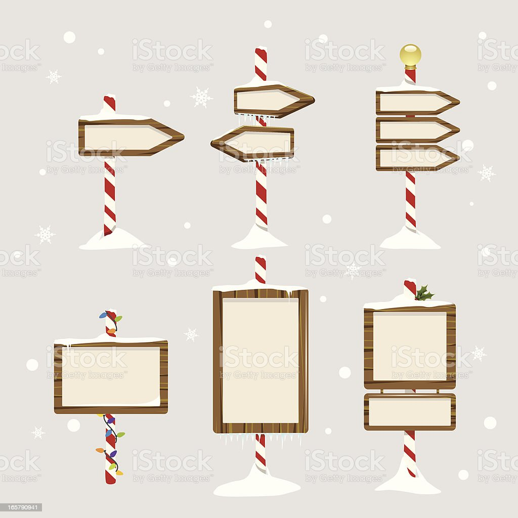 Holiday Signs vector art illustration