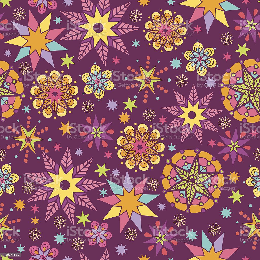 Holiday Stars Seamless Pattern Background royalty-free stock vector art