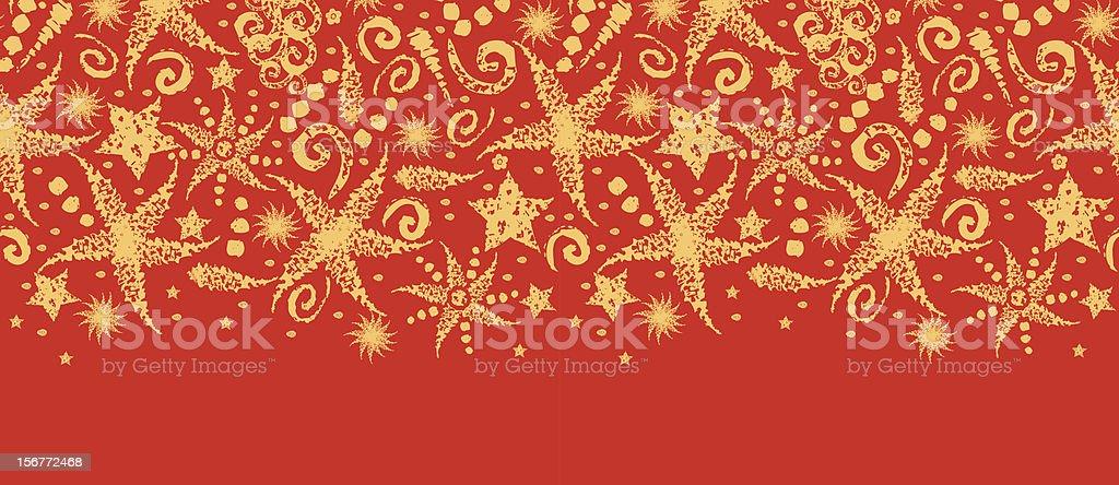 Holiday Stars Textured Horizontal Seamless Pattern Ornament royalty-free stock vector art