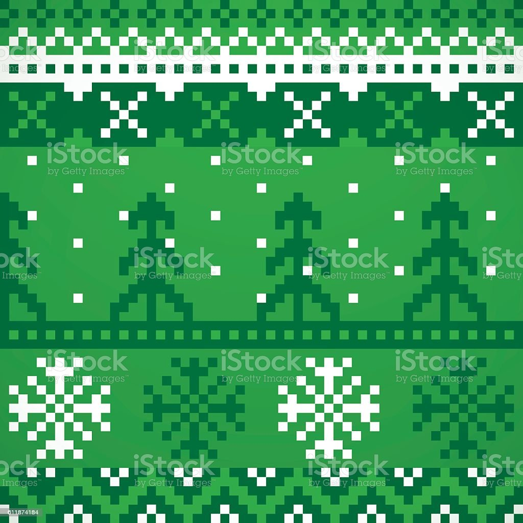 Holiday Sweater Repeating Patterns vector art illustration
