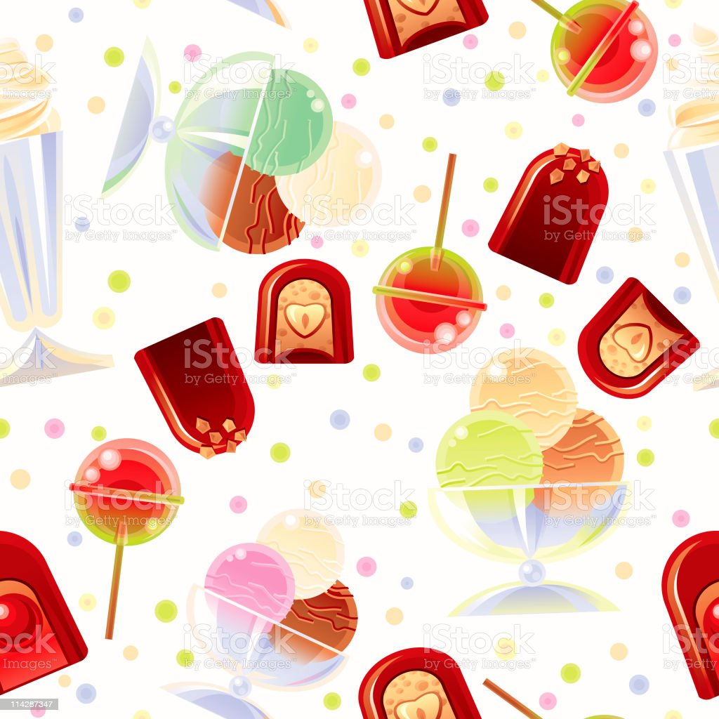 Holiday Sweets Background royalty-free stock vector art
