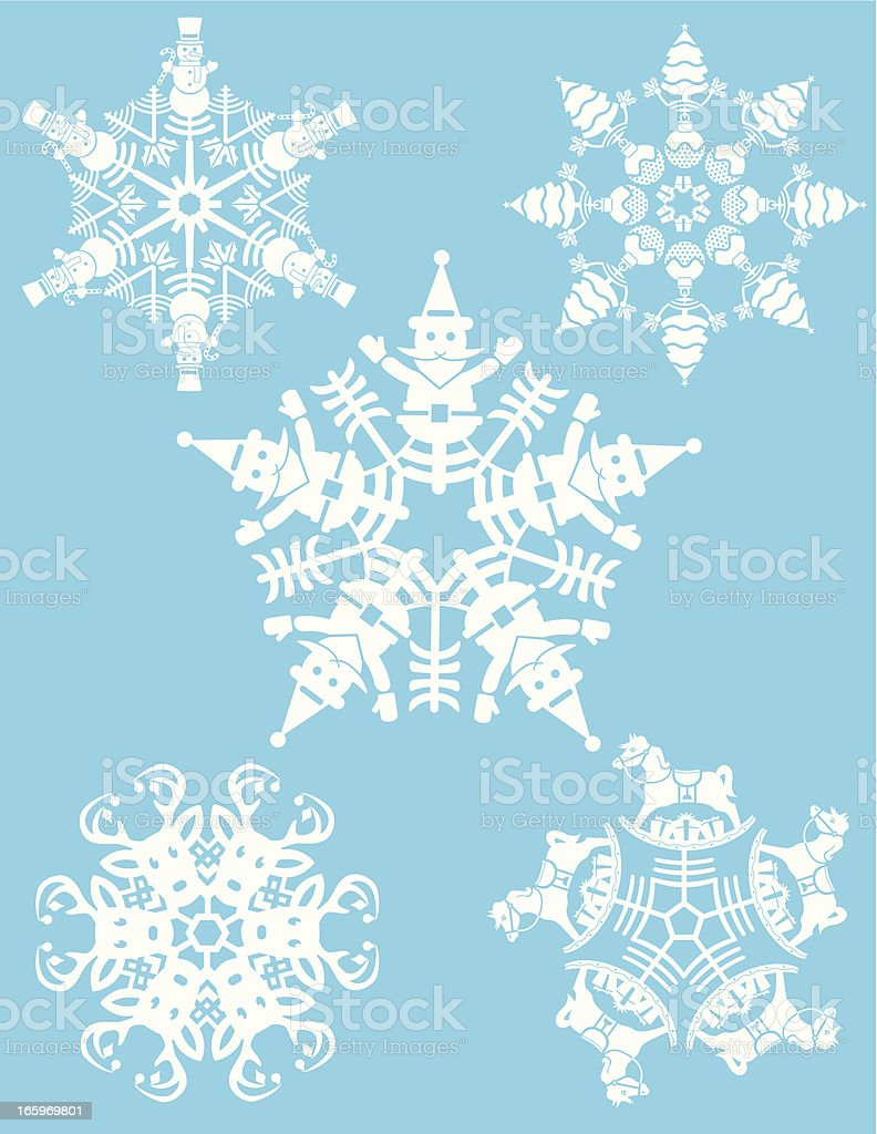 holiday themed snowflakes royalty-free stock vector art