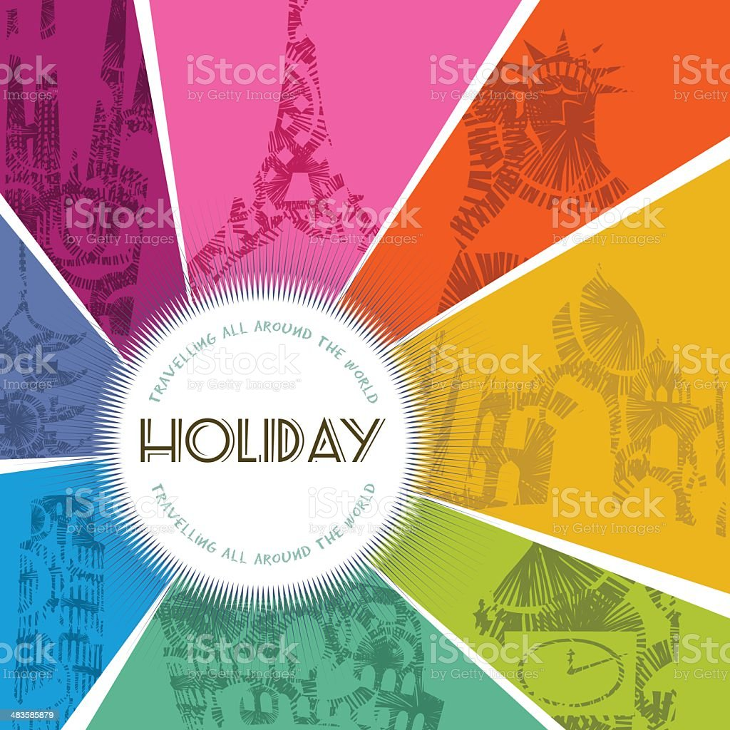 Holiday travel monument banner royalty-free stock vector art
