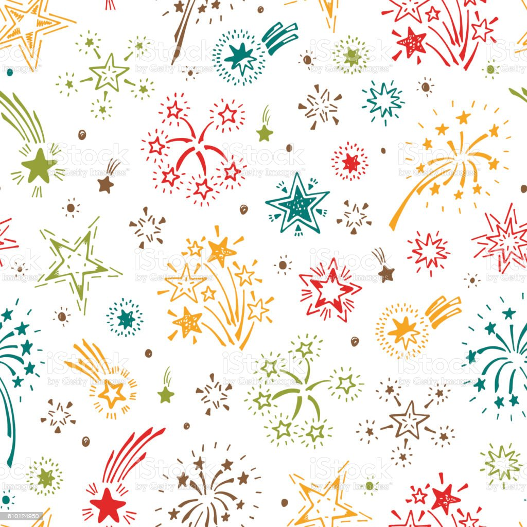 holiday festive party background fireworks and stars 1 credit