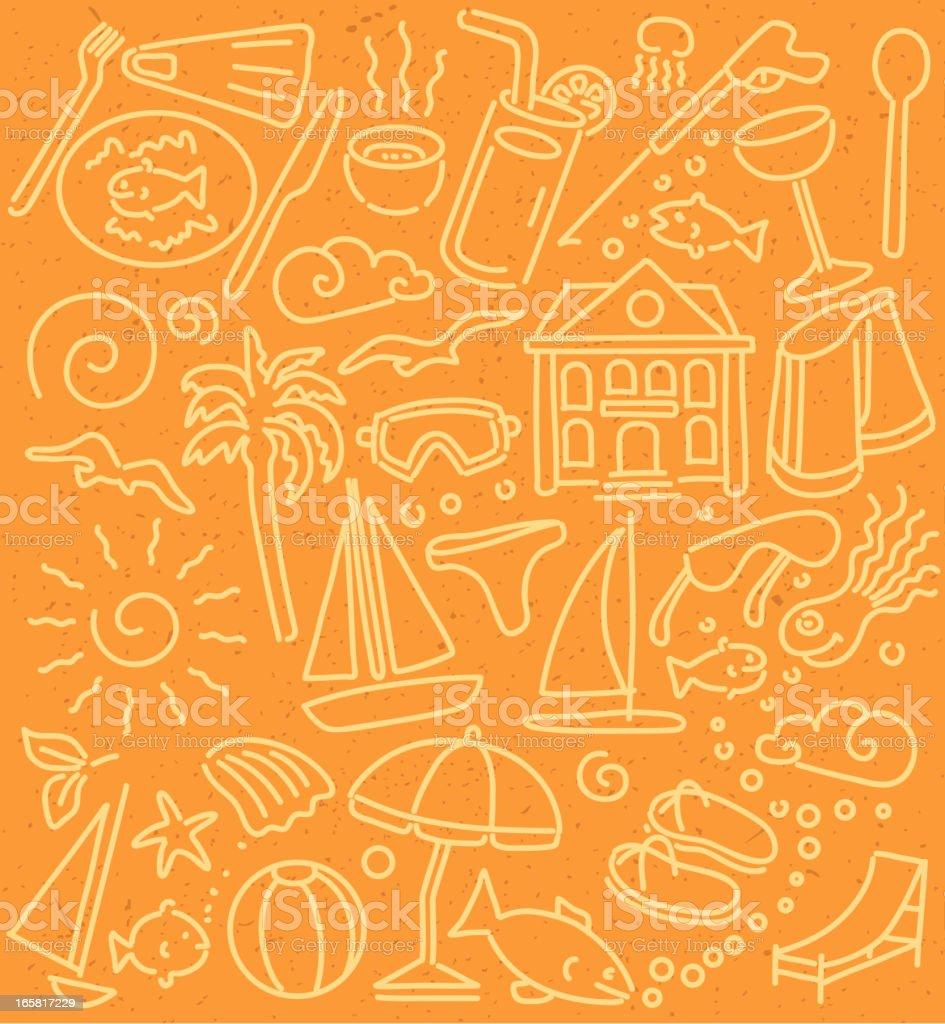 holiday wallpaper vector art illustration