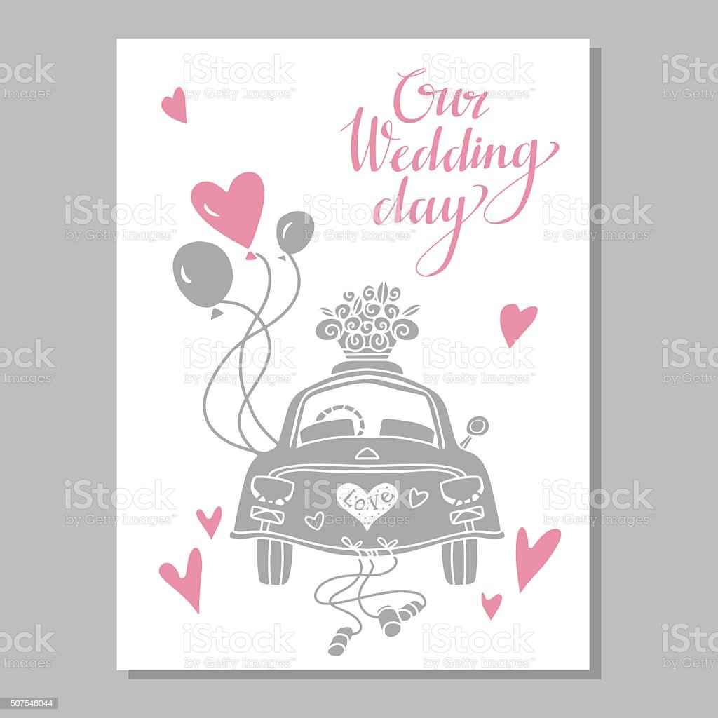 Holiday wedding day background vector art illustration