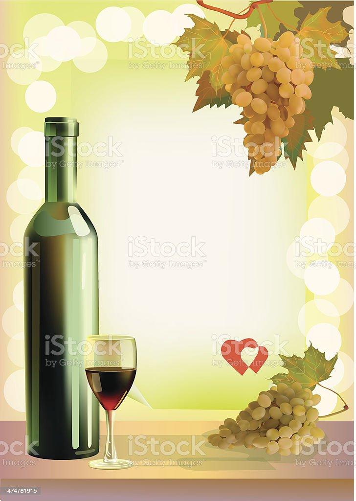Holiday. Wine. vector art illustration