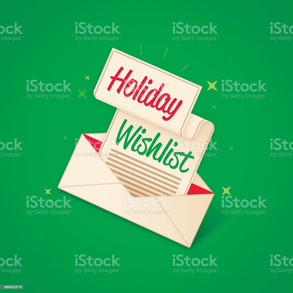 Holiday Wishlist vector art illustration