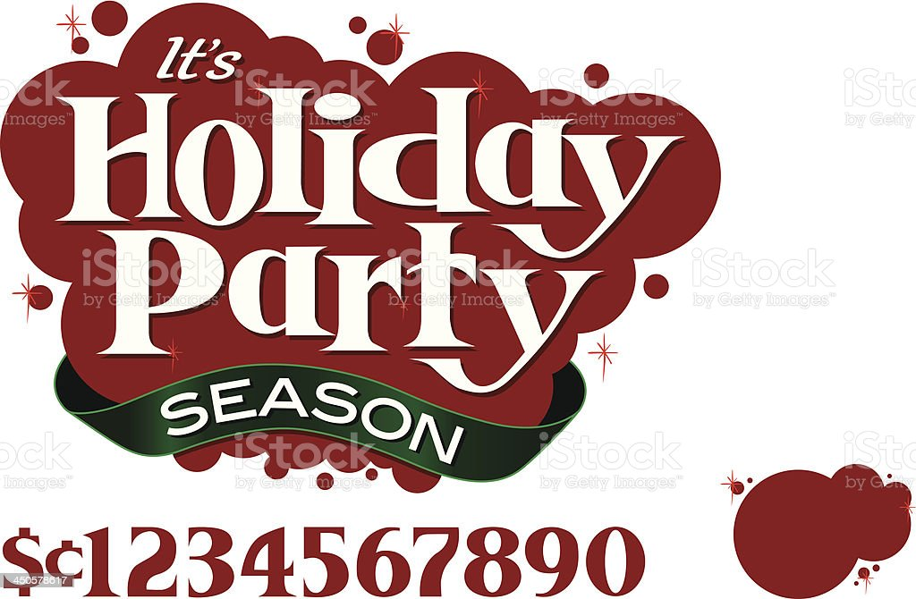 Holiday_Party_Season royalty-free stock vector art