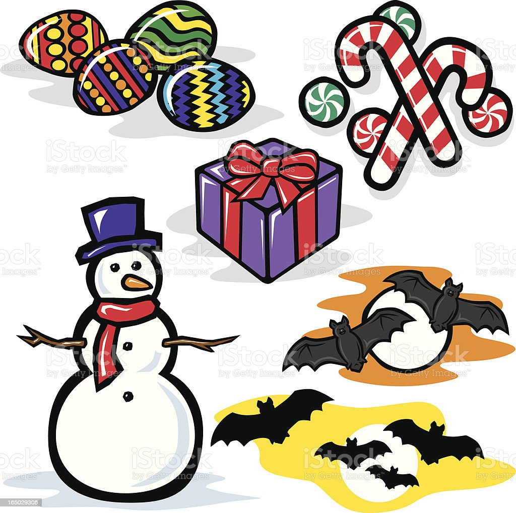 Holidays 2 royalty-free stock vector art