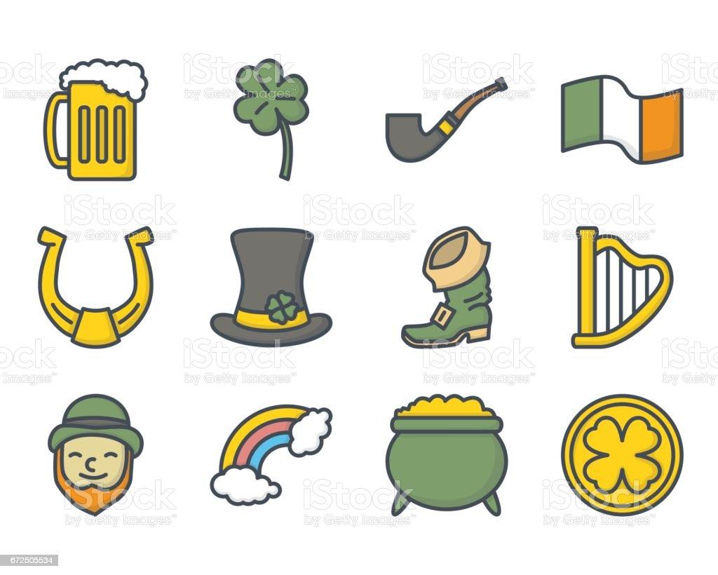 Holidays Colored Icon Patricks Day vector art illustration