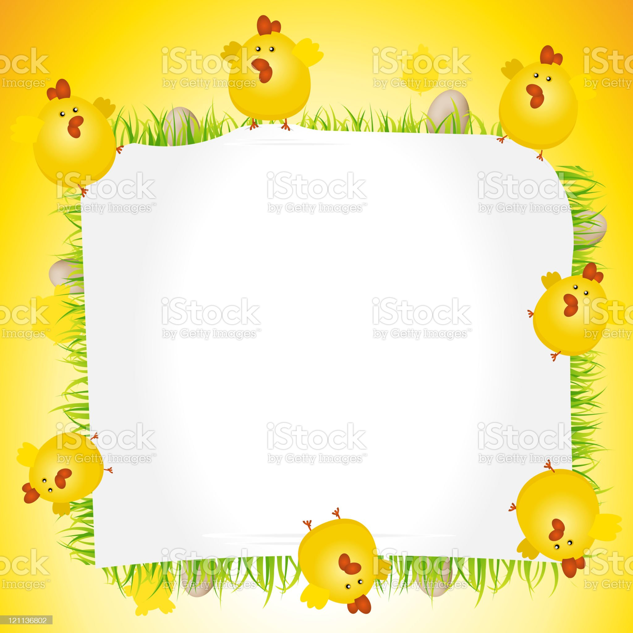 Holidays Easter Chicken Poster royalty-free stock vector art