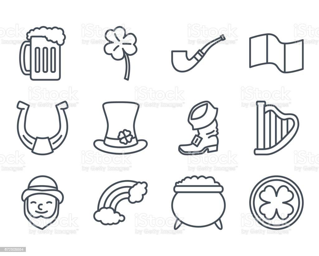 Holidays Line Icon Patricks Day vector art illustration