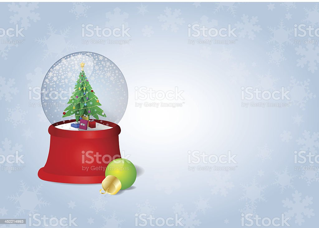 Holidays Snow Globe royalty-free stock vector art