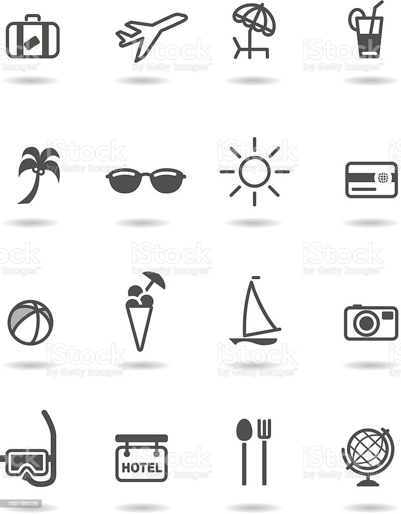 Holiday/travel icons royalty-free stock vector art