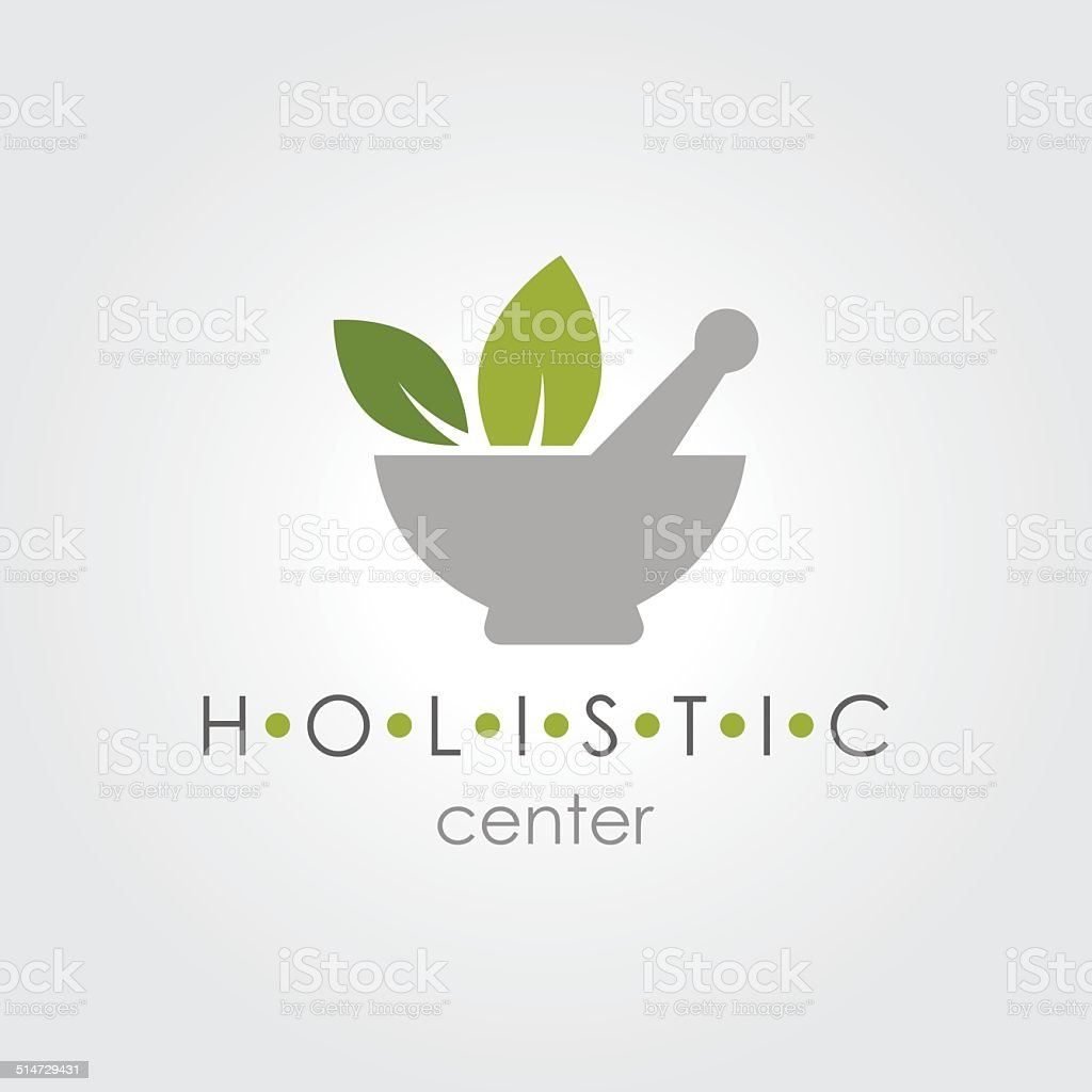 Holistic Sign vector art illustration