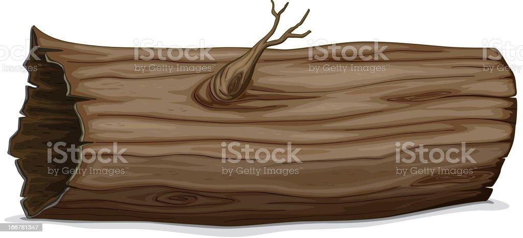 Hollow log royalty-free stock vector art