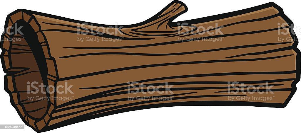 Hollow Log vector art illustration