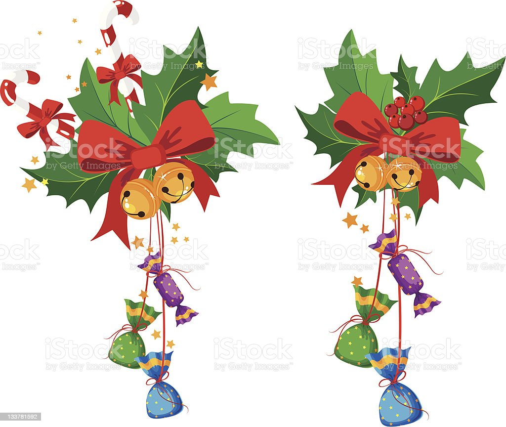 holly and candy royalty-free stock vector art