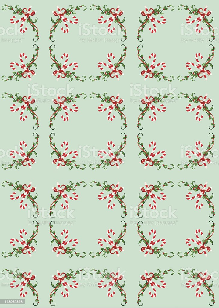 Holly and Ivy Christmas Background royalty-free stock vector art