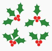 Holly berries icons