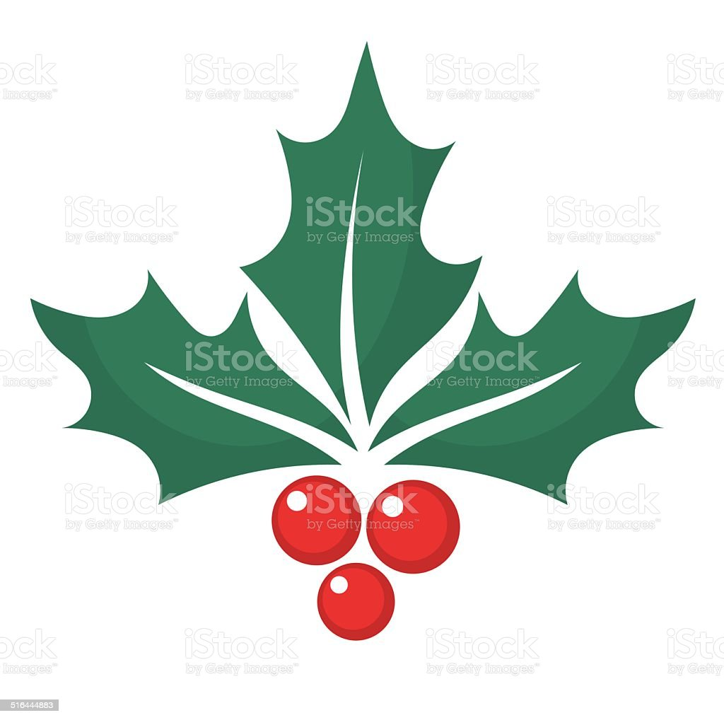 Holly berry graphic vector art illustration