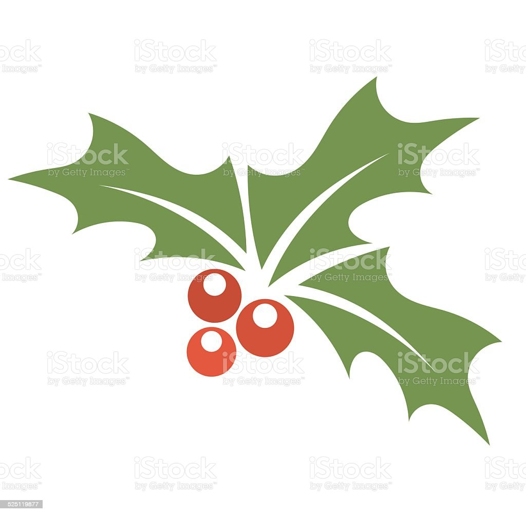 Holly berry symbol vector art illustration