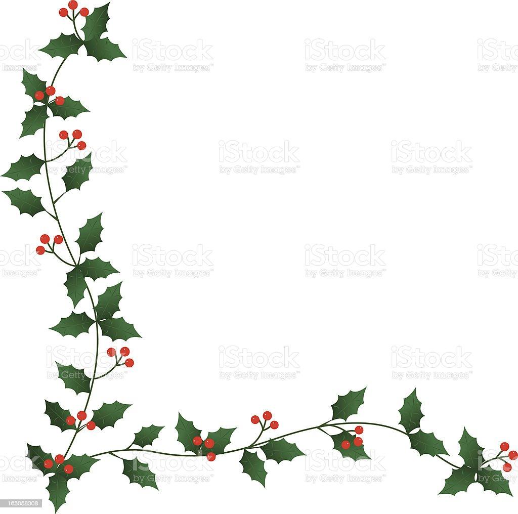 Holly Border royalty-free stock vector art