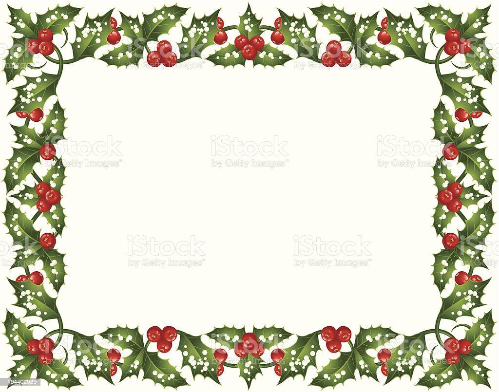 Holly Christmas frame royalty-free stock vector art