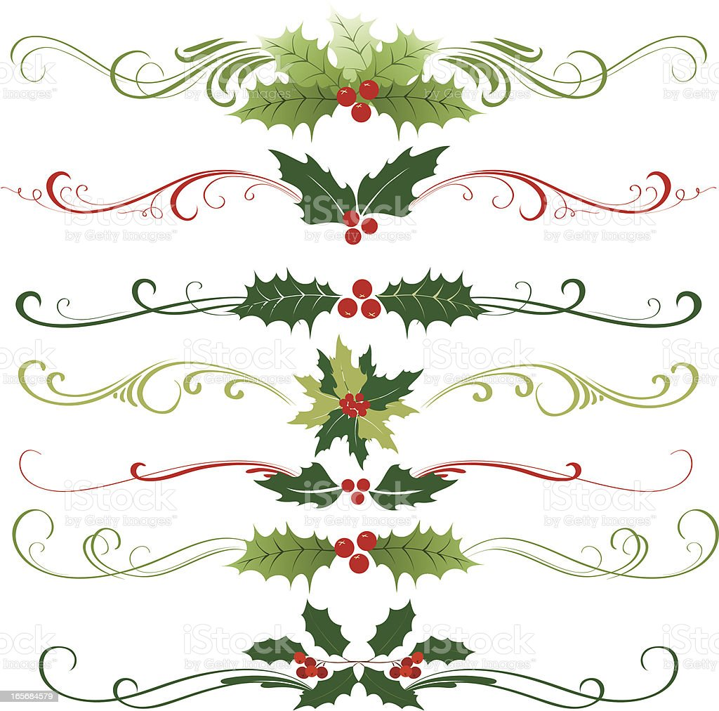 Holly christmas ornament royalty-free stock vector art