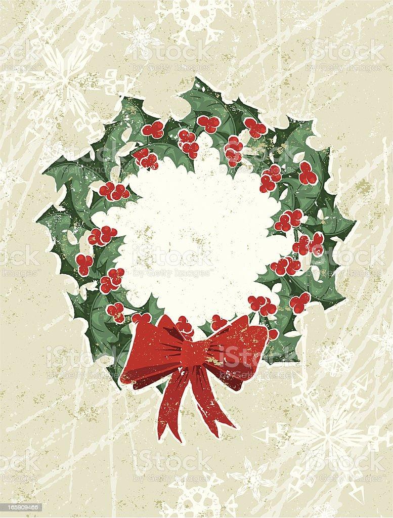 Holly Christmas Wreath royalty-free stock vector art