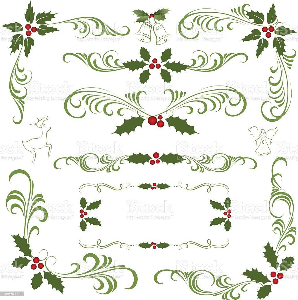 Holly ornament royalty-free stock vector art