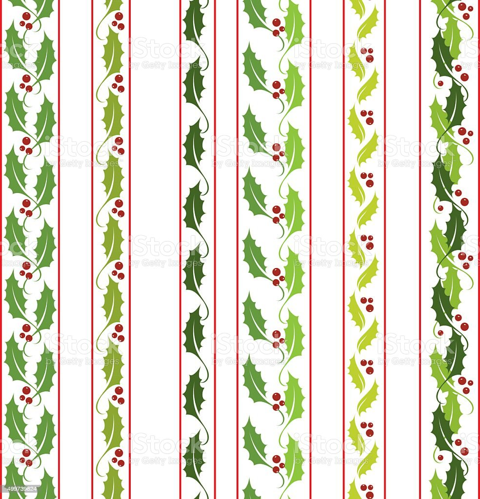 Holly pattern  brushes vector art illustration