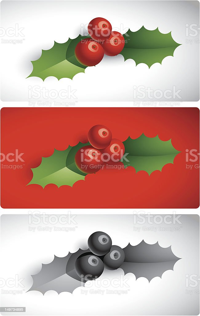 Holly Sprig royalty-free stock vector art
