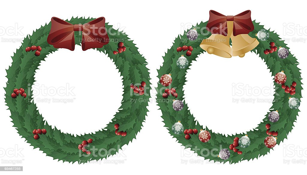 Holly wreath royalty-free stock vector art
