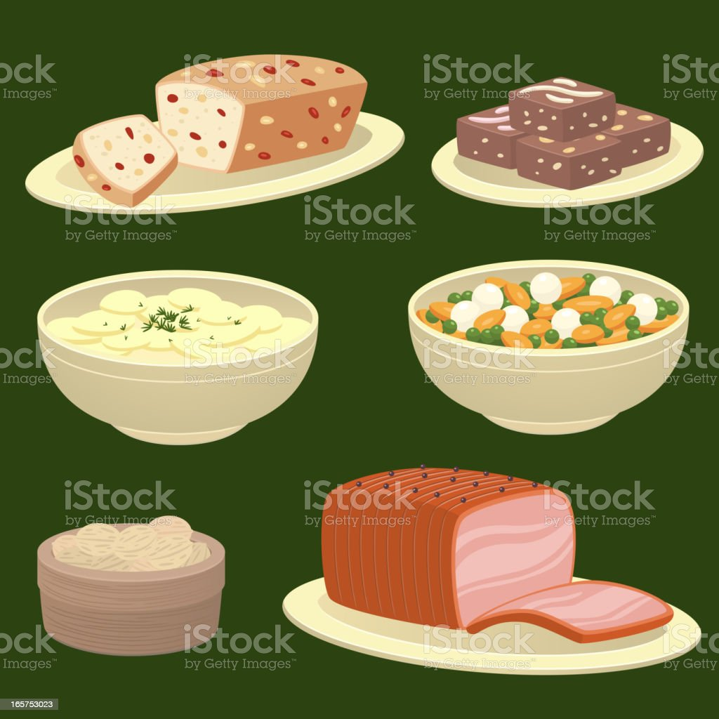 Hollyday food vector art illustration
