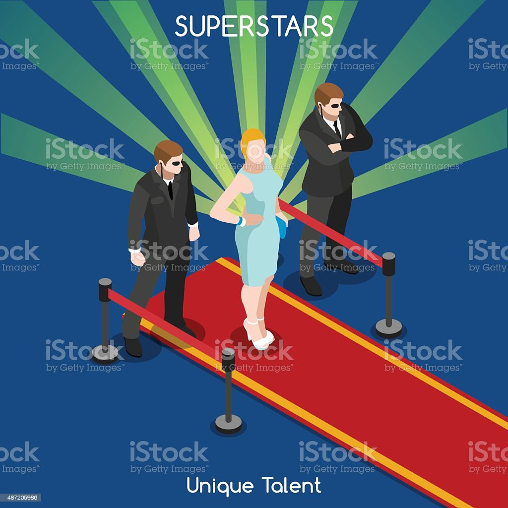 Hollywood 01 People Isometric vector art illustration