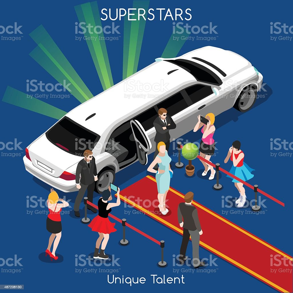 Hollywood 02 People Isometric vector art illustration