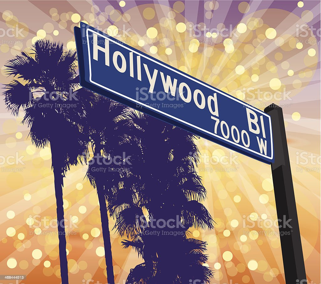 Hollywood Boulevard royalty-free stock vector art