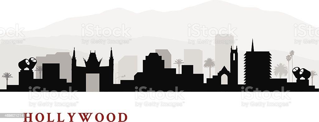 Hollywood California Cityscape vector art illustration