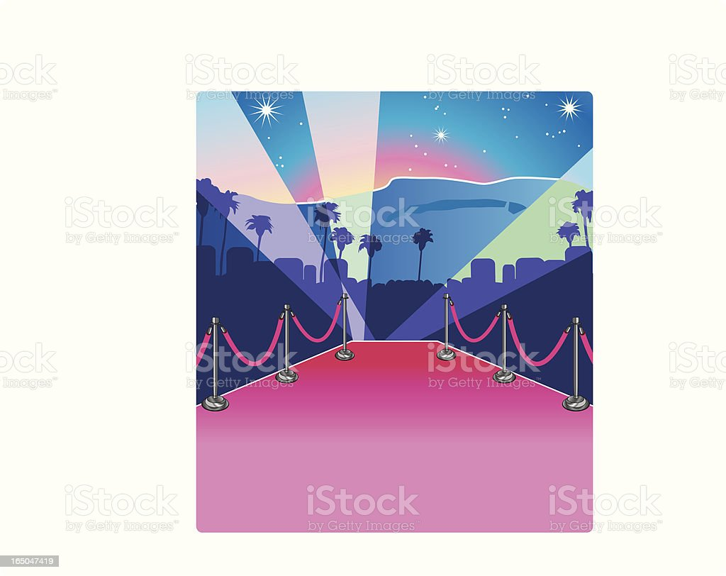 Hollywood Hills royalty-free stock vector art