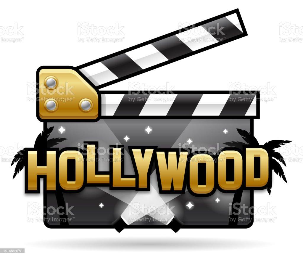 Hollywood Movies vector art illustration