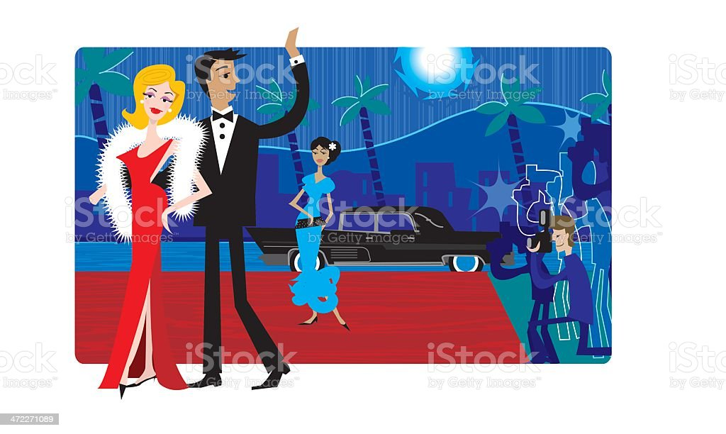 Hollywood royalty-free stock vector art