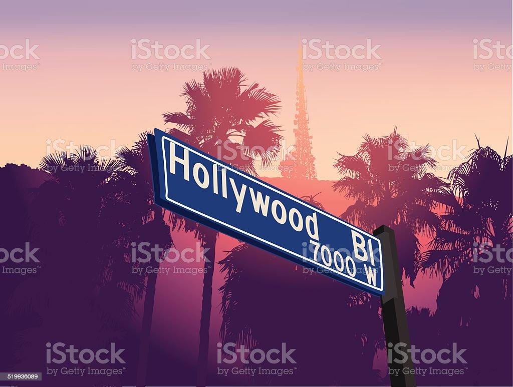 Hollywood vector art illustration