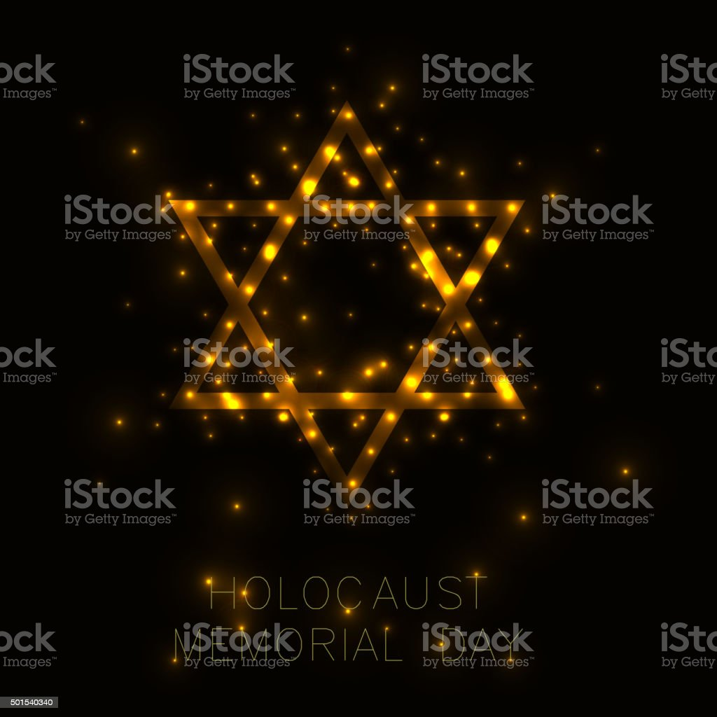 Holocaust Memorial Day vector art illustration