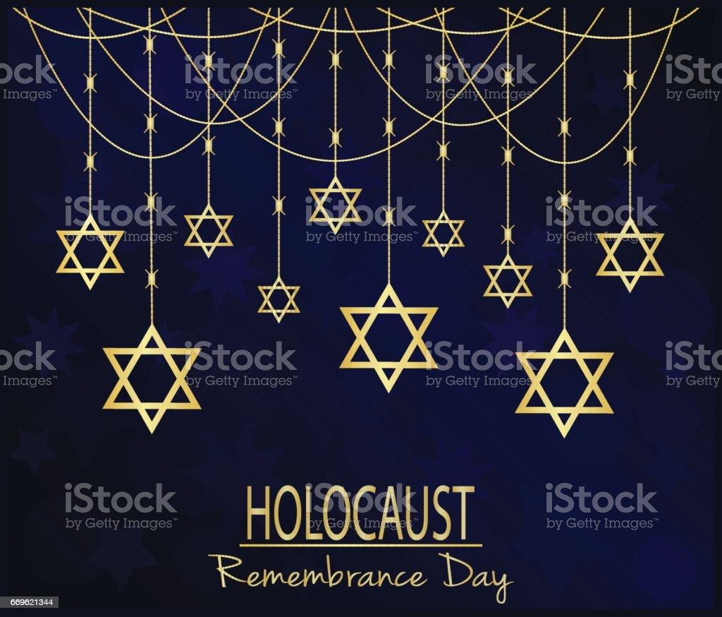 Holocaust vector art illustration