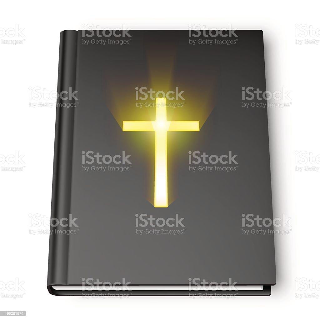 Holy Bible Book vector art illustration