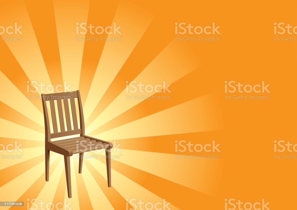 Holy Chair royalty-free stock vector art